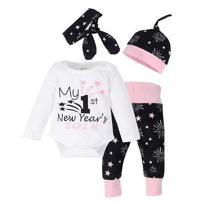 Xmas Toddler Newborn Infant Baby Boys Girls Kids Winter Warm Outfits Set Clothes