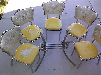 Vintage Kitchen Table and Chairs Spartan Chrome Furniture Philadelphia 50's 60's
