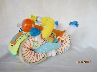 Motorcycle Diaper Cake, Centerpiece, or Gift