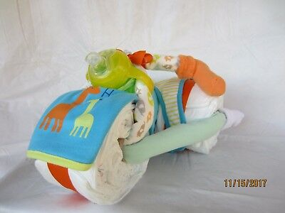 Tricycle Diaper Cake, Centerpiece, or Gift
