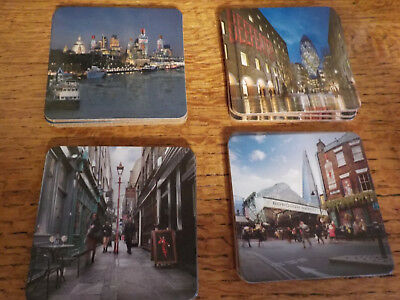 Beefeater Gin - Promotional Cork Coaster Set of 4 x 3 Glossy Photo London Street