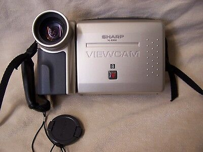 SHARP VL-E630U 8mm Tape Camcorder Video Camera Outfit  2 Sony 8mm 120