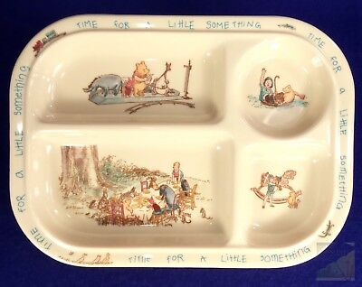 Vintage Selandia Classic Winnie the Pooh Divided Plate Tray Melamine Unbreakable