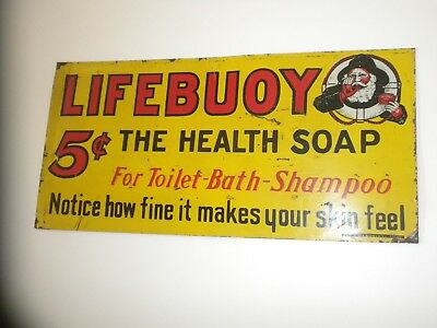 country store sign Lifebuoy 5cent health soap 1930's