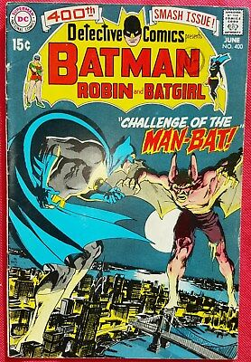 Batman Detective Comics 400 issue DC 1970 first Man-Bat Neal Adams art