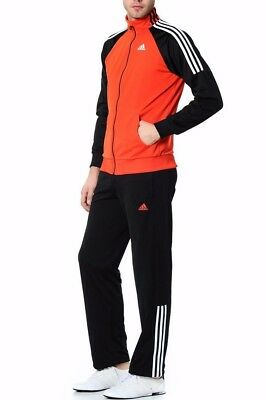 New Mens Zip Track Black Jacket Bottoms Jogging Red Full Top Tracksuit Adidas hdtQrs