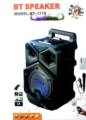 BT Speaker Portable Bluetooth Karaoke USB Rechargeable with free Mic/ SD CARD FM