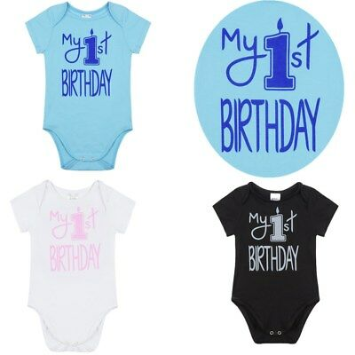 Infant Girl Baby Boy My First Birthday Romper Cake Smash Jumpsuit Outfit Clothes