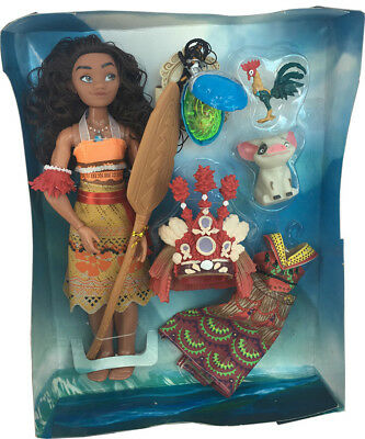Hot Singing Moana & Friends Action Figures Doll Light & Movie Song Kids Toy Gift