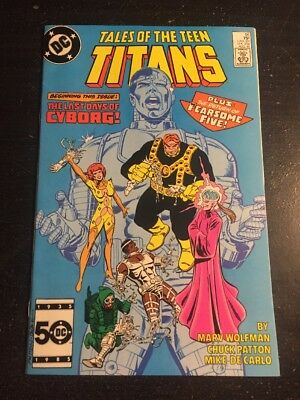 Tales Of Teen Titans#56 Incredible Condition 9.0(1985) Fearsome Five Return!!