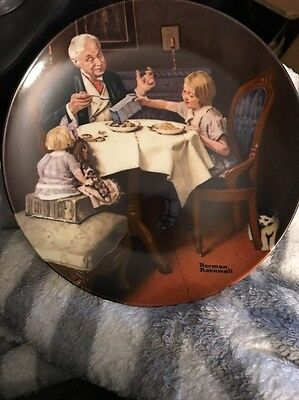 """Norman Rockwell """"The Gourmet"""" by Knowles Collector Plate w/Box & Cert"""