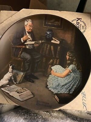 """Norman Rockwell Collectible Plate """"The Story Teller""""  Brandex Number 84 R70 38"""