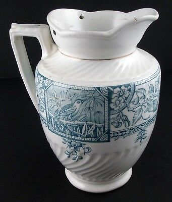 Hanley Staffordshire England 7.25 in Transfer Ware Porcelain Pitcher — Antique