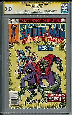 Spectacular Spider-Man #40 CGC SS 7.0 WP Signed by Joe Rubinstein