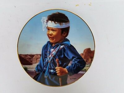 Laughing Heart Proud Innocent Native American Plate Collection Jay Schmidt