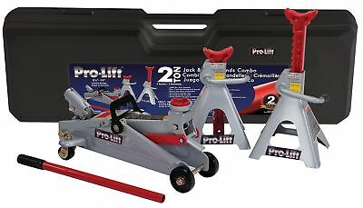 Pro-Lift F-2330BMC Grey Floor Jack and Stand Combo
