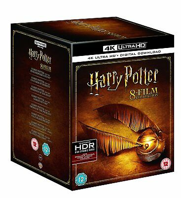 Harry Potter The Complete 8-Film Collection (Blu-ray 4K UHD) BRAND NEW! Ultra HD