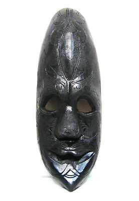 """Large Hand Carved Wood Tribal Mask 18"""" x 6 1/2"""""""