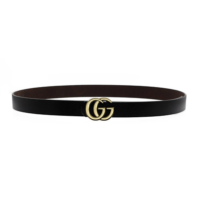 """""""GG"""" Womens Genuine Leather Thin Belts For Jeans 0.9 Belt For Womens Pants New"""