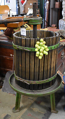 Antique French Basket Wine Press 90x50x50cm