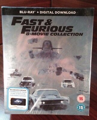 fast and furious box set 1 8 blu ray picclick ie. Black Bedroom Furniture Sets. Home Design Ideas