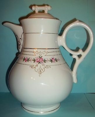 """Antique19th Century Coffee Chocolate Pot August Rappsilber 10"""" tall ca 1880-1886"""