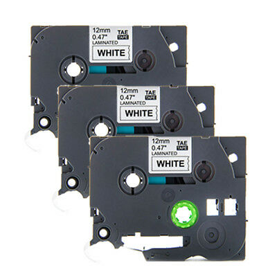 3PK TZ-231 TZe-231 for Brother P-touch Laminated Label Tape 12mm Black on White