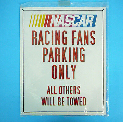 Nascar Racing Fans Parking Only  Sign New In Package 15 X 12 Inches