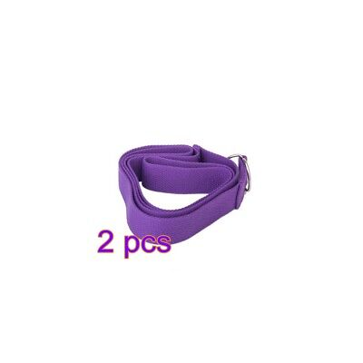 2pcs  Portable Long Yoga Pilates Exercise Stretching Strap Belt Fitness Training