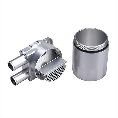 Billet Aluminium Engine Oil Catch Can Double Baffled 19mm Barb for Nissan Silver