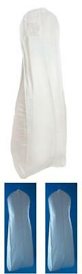 New Dress Garment Bag White Breathable Wedding Gown 24 X72 Inch Wide Long Soft