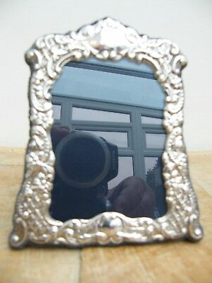 "A Hallmarked Solid Silver  Photo Picture Frame Sheffield 2000 5"" X 4.25"""