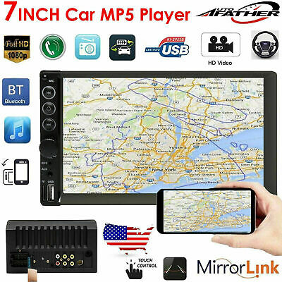 Car Bluetooth Stereo In-dash Radio 2 Din Audio Player USB/SD For Toyota Corolla
