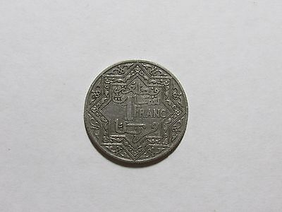 Old Morocco Coin - Undated 1924 1 Franc - Circulated