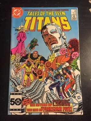 Tales Of Teen Titans#58 Incredible Condition 9.4(1985) Cyborg Return !