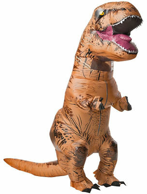 Inflatable Dinosaur T-Rex Jumpsuit Cosplay Blow Up Costume Jurassic Fancy Outfit