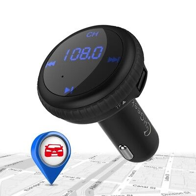 Wireless Bluetooth Car Kit FM Transmitter Hands Free Calling For Android Phones