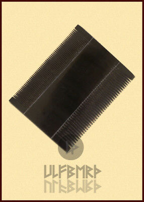 Medieval double-sided comb, viking norman cow horn bath LARP SCA Reenactment