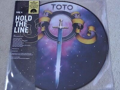 """Toto - Hold The Line Picture Disc 10"""" Vinyl Record Store Day Black Friday 2017"""
