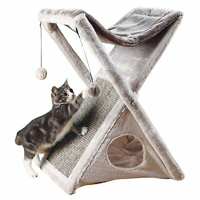 """Trixie Pet Products Miguel Fold and Store Cat Tower, 20.25 x 13.75 x 25.5"""", Gray"""