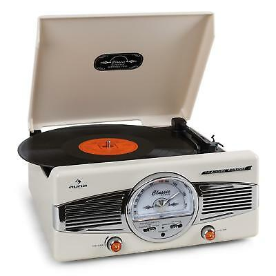 Retro Vinyl Turntable Record Player Vintage Radio Stereo Speaker Hi fi Sound