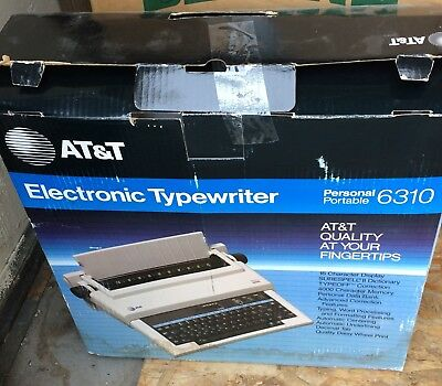 AT&T Model 6310 electric typewriter WORKING Great Needs Ribbon