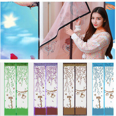 Mesh Door Magic Curtain Net Magnetic Snap Fly Bug Insect Mosquito Screen Hot Q