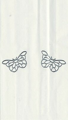 Set Of 12 Silver Filigree Butterfly 14 X 8 Size White Cake Bags