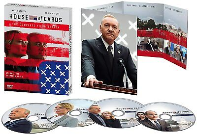 New House of Cards: The Complete Fifth Season 5 (DVD, 2017, 4 Disc Set) Sealed