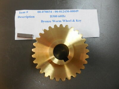 Hobart D300 Bronze Worm gear 00-070034 With key 00-012430-00049
