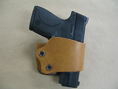 Azula Gun Holsters Universal Leather Belt Slide Holster, Fits almost Every Gun