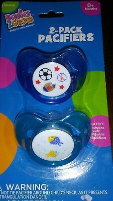 (5 Lot) Babies2Grow 2 pack pacifiers 0+ months