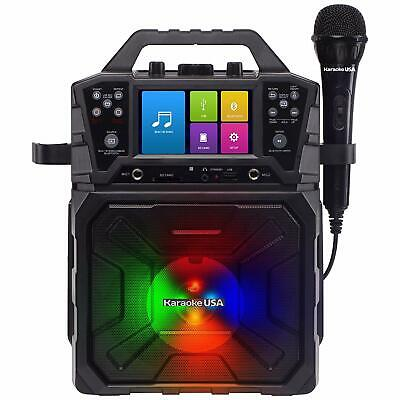 Singing Machine Karaoke Party Player System Record to USB Microphone Included