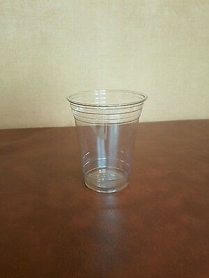 100 x 16oz Clear Plastic Smoothie Cups DART/SOLO TP16D Strong Cups Ultra Clear